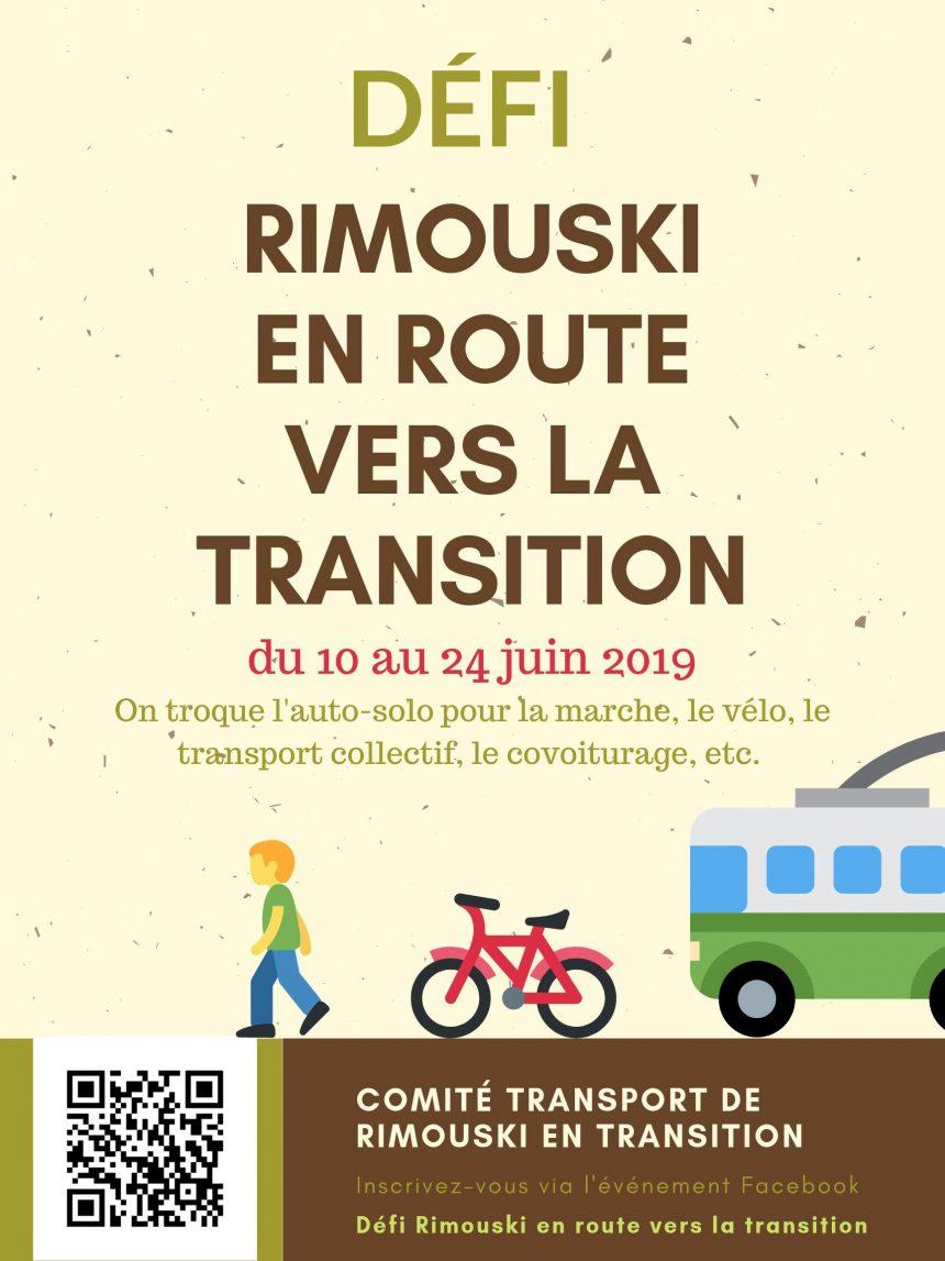 Défi Rimouski en route vers la transition