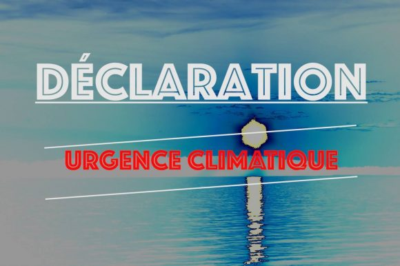Dépôt de la déclaration d'urgence climatique à la ville de Rimouski.